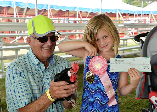 Rooster Crowing Contest winner